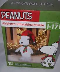 peanuts airblown inflatables snoopy airblown doghouse woodstock peanuts christmas