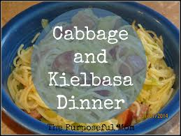 Cold Dinner Cabbage And Kielbasa Dinner Comfort Food For Cold Days The