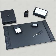 Office Desk Accessories Set Black Leather Desk Accessories Uk Halflifetr Info