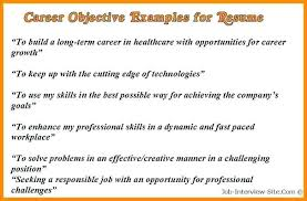 resume samples career objective career objectives resume