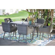 Turquoise Patio Furniture by Belham Living Adissinia 7 Piece All Weather Wicker And Concrete