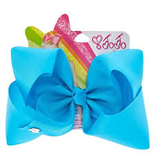 blue bows s girl s jojo siwa large bright blue hair bow