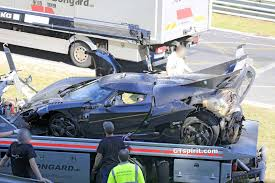 car koenigsegg one 1 koenigsegg one 1 crashes at the nurburgring during testing with