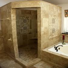 Bathroom Tile Wall Ideas by Bathroom Fantastic Cream Small Bathroom With Shower Stall
