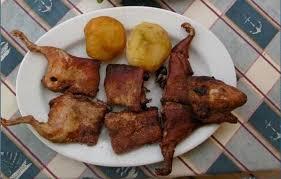 rat cuisine menu du jour croustillant de chèvre au rat et demi rat rôti sur