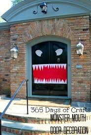 17 october crafts monster doors decoration door into a monster or