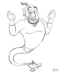 genie coloring page free printable coloring pages