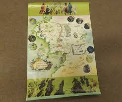 Map Middle Earth Pauline Baynes A Map Of Middle Earth George Alan U0026 Unwin Limited