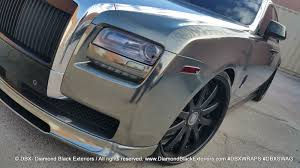 rolls royce chrome project rolls royce ghost by dbx wrapped in two tone black and