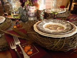 12 best thanksgiving tablescapes images on blue