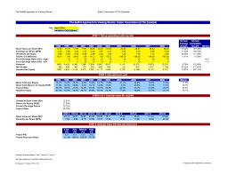 Business Valuation Excel Template Stock Valuation Calculator Template