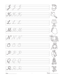 cursive letters worksheets printable letter idea 2018