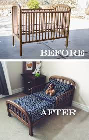When Do You Convert A Crib To A Toddler Bed Do It Yourself Divas Diy Crib Into Toddler Bed