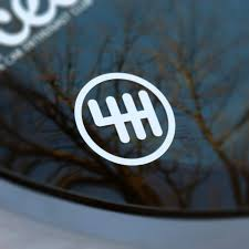 6 speed vinyl decal sticker manual transmission stick
