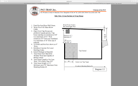 house dimensions internal trap house dimensions machine placement trap