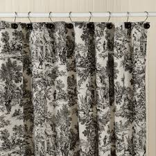 french toile fabric shower curtain with french toile shower
