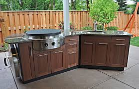 outdoor kitchen ideas for small spaces wooden cabinet wood