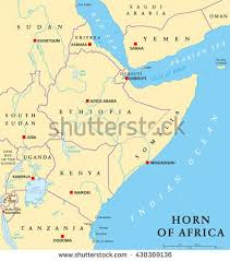 africa map khartoum sudan political map capital khartoum national stock vector