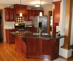 furniture brown kitchen cabinet refacing with black countertop