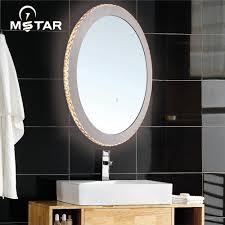 oval bathroom mirror with light oval bathroom mirror with light
