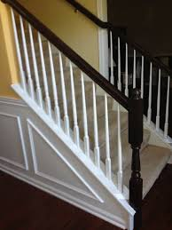 furniture stunning wooden stair handrailing using java gel stain