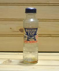 vintage bottle brush top spot remover advertisement metal cap