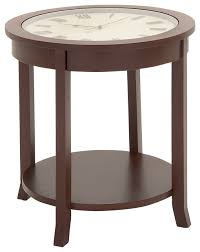 Clock Coffee Table by Mccormick Wood And Glass Clock Table Transitional Side Tables