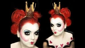 reina de corazones queen of hearts makeup tutorial