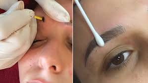 eyebrow feather tattoo uk microblading video shows tiny needles being used to create the