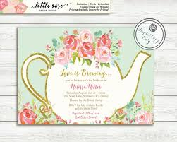 Wedding Shower Invites Love Is Brewing Bridal Shower Invitation Garden Tea Party High