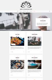 no sidebar lotos simple html template