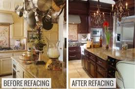 Kitchen Cabinet Refacing Pictures Before After Roselawnlutheran - Kitchen cabinet refacing before and after photos