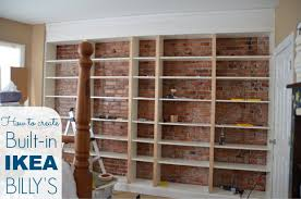 Wooden Bookshelves Ikea by Ikea Hack Billy Built In Bookshelves Part 1 Home Stories A To Z