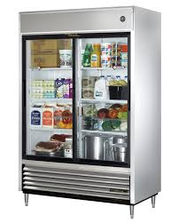 amazon com true tsd 47g ld 2 door sliding glass door refrigerator