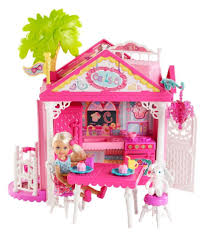 Barbie Dining Room Barbie Chelsea Doll And Clubhouse Playset Toys