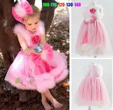 2017 in store pink baby party princess dresses cute girls