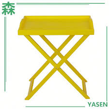 yasen houseware mdf table top folding balcony tray table with