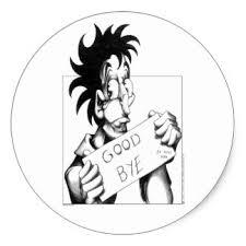 goodbye stickers zazzle