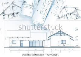 home construction plans home construction plans architectural blueprint rolls stock photo