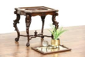 sold or cherub carved 1920 antique walnut coffee or