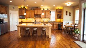 kitchens with dark wood floors and cabinets elegant home design