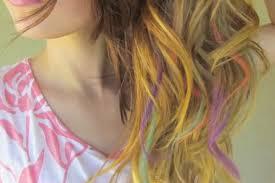 dye bottom hair tips still in style how to chalk blonde hair