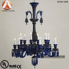 blue crystal chandelier light 12 light baccarat blue crystal chandelier buy blue crystal