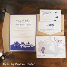 wedding invitations calgary mountain wedding invitations wedding corners
