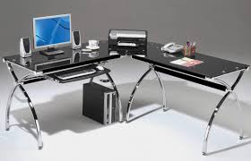 Office Depot L Shaped Desk With Hutch by Furniture Rta 3806 Techni Mobili Tempered Glass Computer Desk