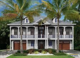 duplex beach house plans beach house plan west indies island cottage architectural style