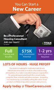 titan factory direct homes linkedin and incentive plans for top performers internal growth opportunities we only promote from within paid vacation top of the line sales training apply