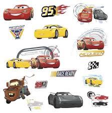 disney pixar cars 3 movie wall decals lightening mcqueen mater picture 1 of 3