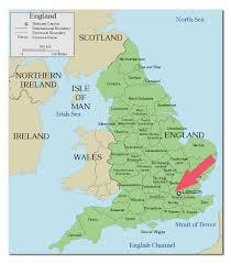 England On Map London England World Map World Maps