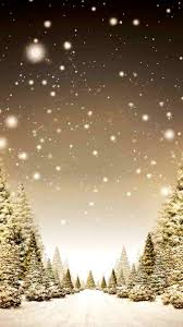 snowy 2014 christmas tree forest iphone 6 wallpaper gold my